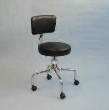 24 inch Revolving Stool with Backrest